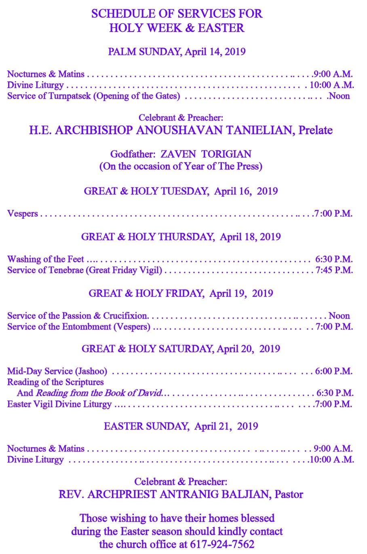 2019 Easter program-ENG