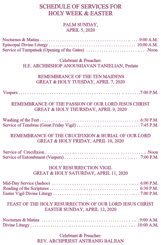 2020 Easter program english